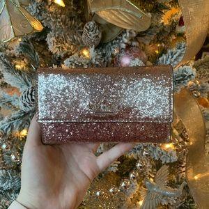 Kate Spade pink glitter phone/wallet wristlet